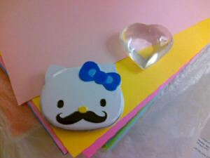Hello Kitty and her mustache