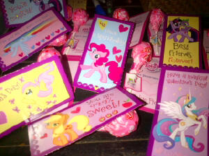 Valentine's Day hearts and cards forever!