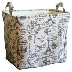 Lowe's Paris Fabric Storage/Laundry Basket
