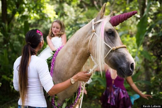 Little Girl Meets Unicorn