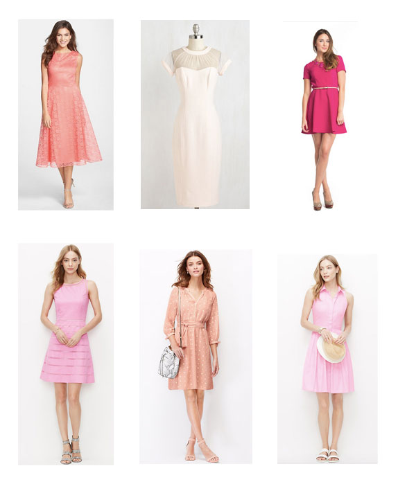 Dresses from in  order: Nordstrom:Betsey Johnson, Modcloth, LeTote Lexi, & bottom row Ann Taylor